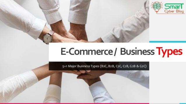 E-Commerce/ BusinessTypes 5+1 Major Business Types (B2C, B2B, C2C, C2B, G2B & G2C)