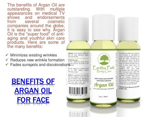 What are the benefits of argan oil for face