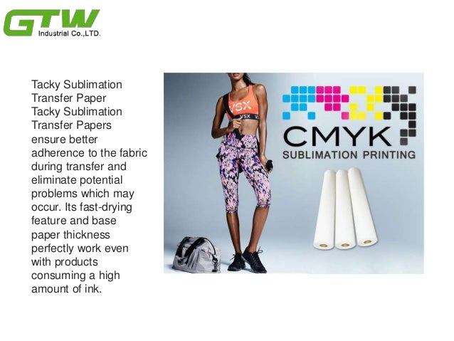 What are the Benefits of Sticky/ Tacky Sublimation Transfer Paper? Slide 3