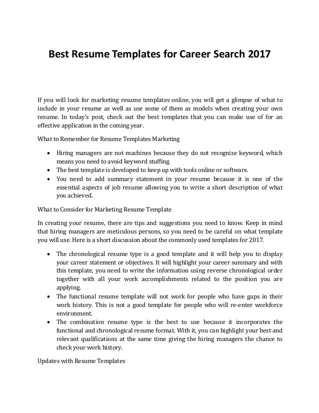 Create Your Own Resume Template Career Builder Resume Templates