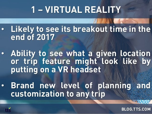 • Likely to see its breakout time in the end of 2017 • Ability to see what a given location or trip feature might look l...