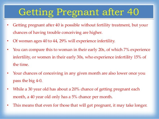How to get pregnant when youre over 40