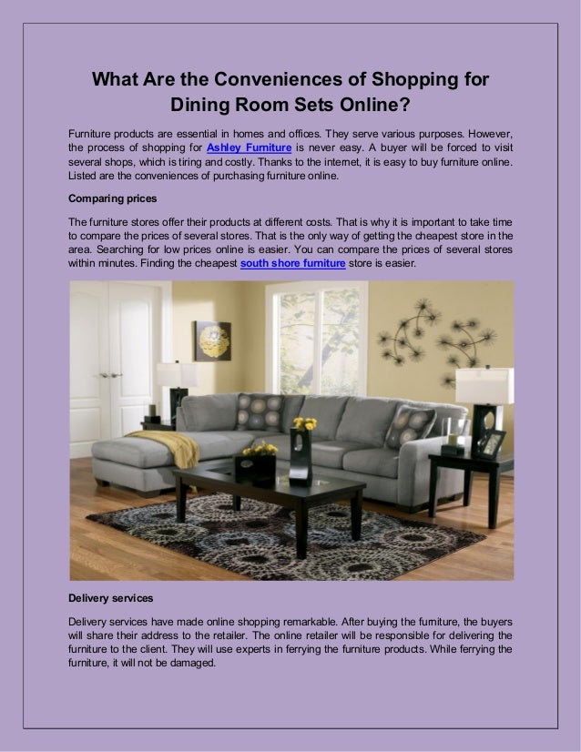 What Are The Conveniences Of Shopping For Dining Room Sets Online?  Furniture Products Are Essential ...