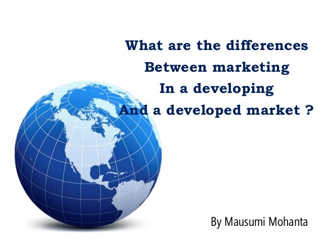 difference between market and marketing pdf