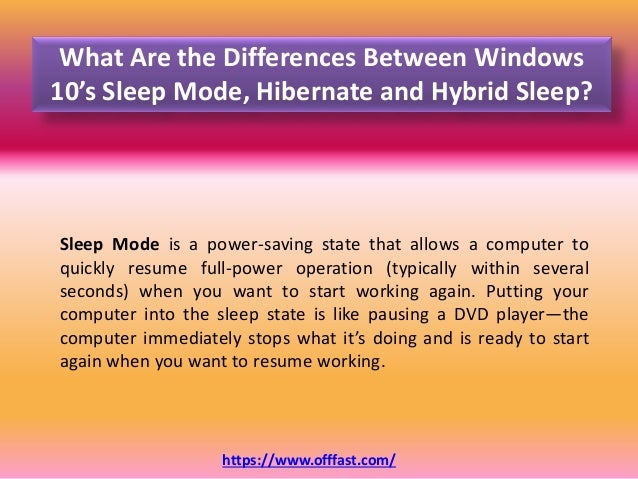 What Are the Differences Between Windows 10 Sleep Mode, Hibernate and…