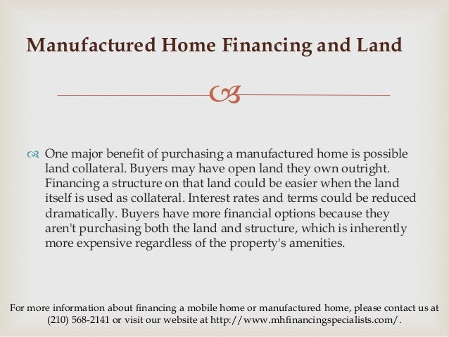 What are the Guidelines for Manufactured Home Financing? Used Mobile Home Financing on mobile security, home improvement financing, mobile marketing, mobile banking, mobile gardens, commercial financing, mobile health care,