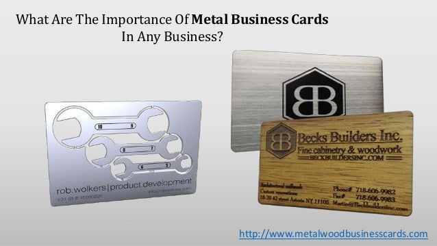 What are the importance of metal business cards in any for Importance of business cards