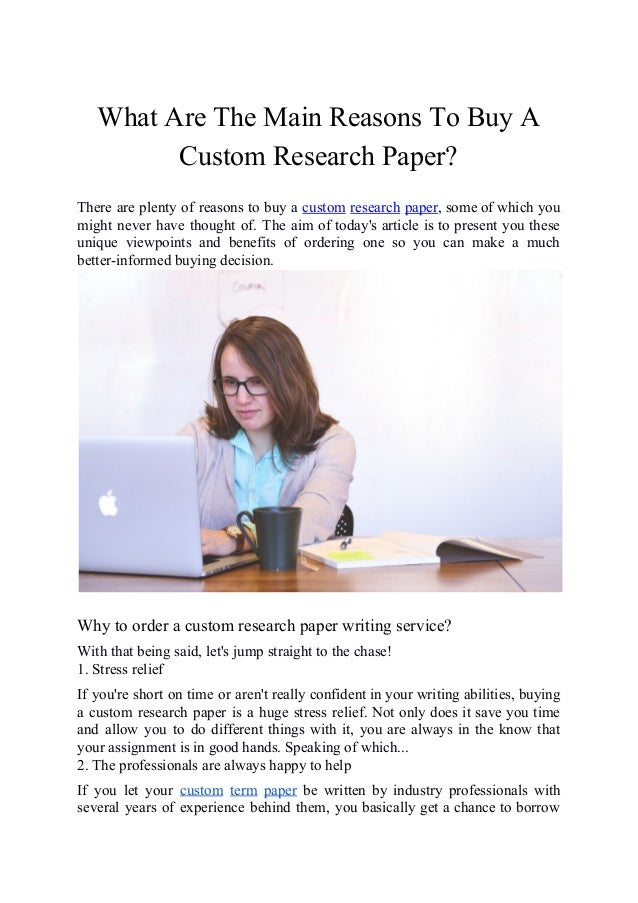 Buy custom research paper
