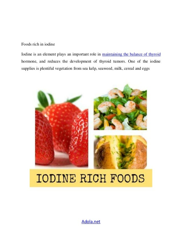 iodine rich foods for hypothyroidism | Foodfash.co