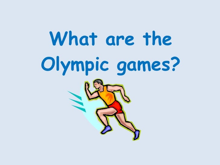 What are the Olympic games?