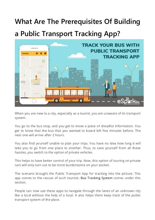 The features and cost of a public transportation tracking app?