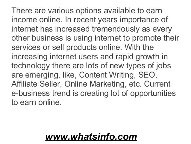 What are the proven and genuine options available to start earning income online  (1) Slide 2