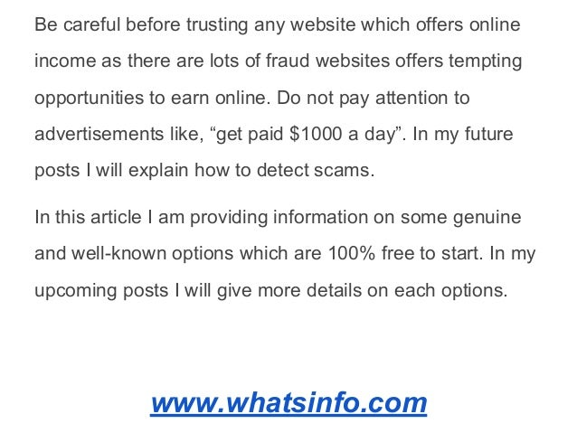 What are the proven and genuine options available to start earning income online  (1) Slide 3