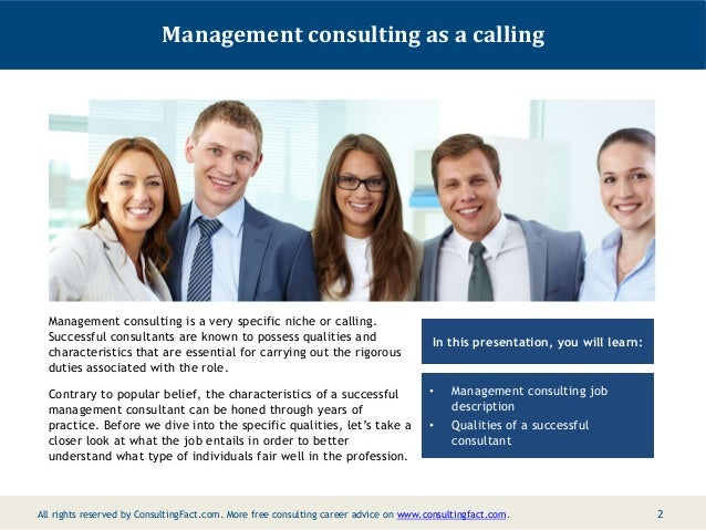 What Are The Qualities Of A Successful Management Consultant