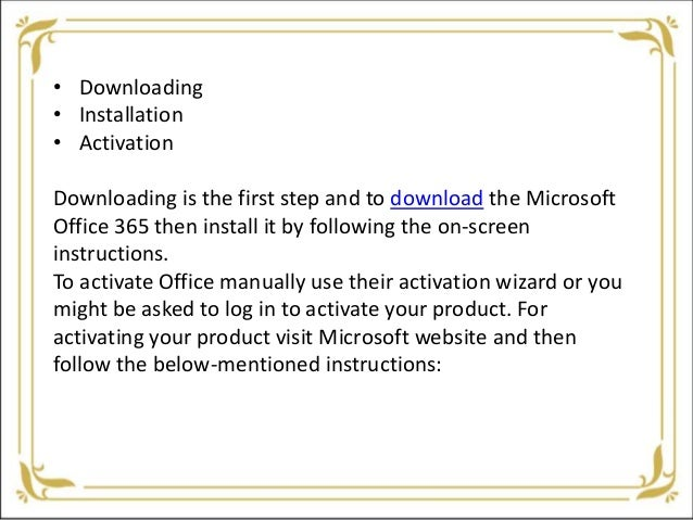 What are the steps to activate 365 office