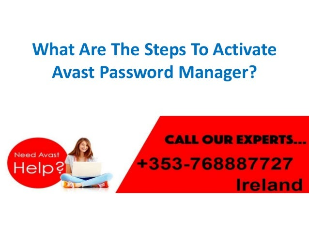 how to activate avast password