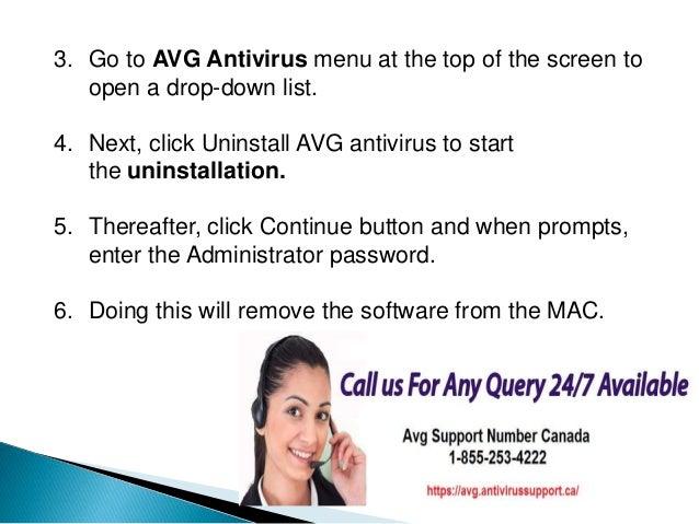 how to remove avg antivirus from mac