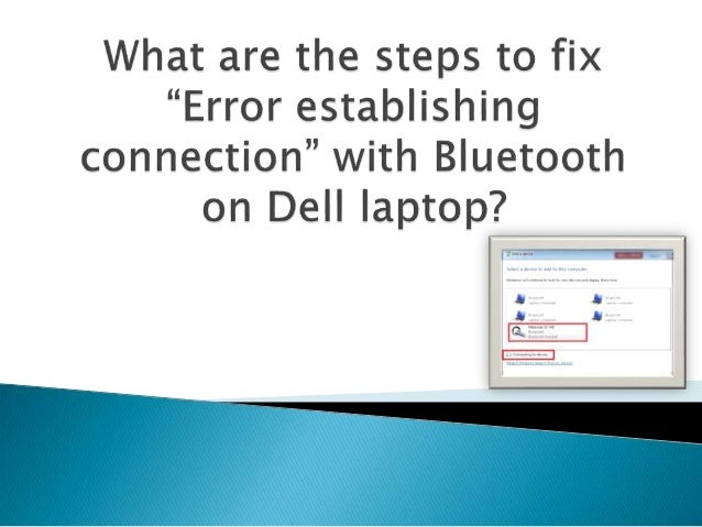 "What are the steps to fix ""error establishing connection"