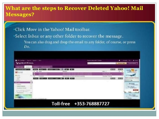 retrieve yahoo email after deleting
