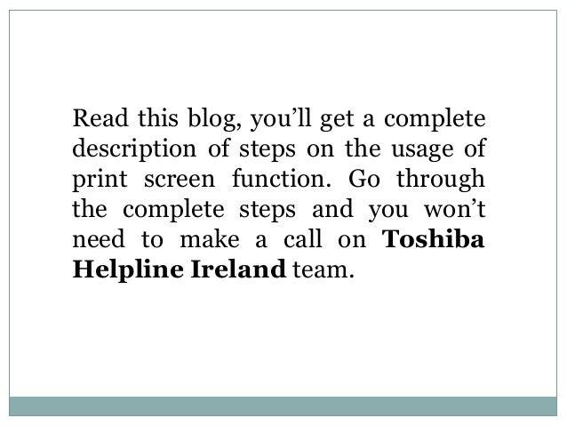 how to take screenshot in toshiba