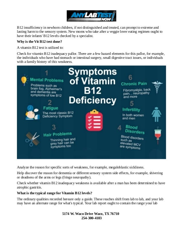 What are the symptoms of Vitamin B12 Deficiency Slide 2