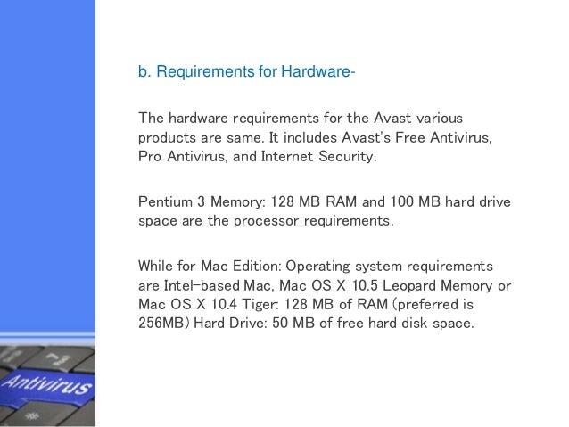 antivirus system requirements