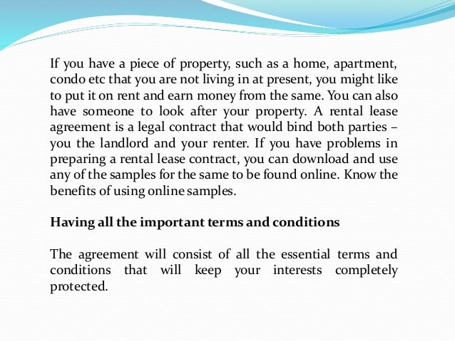 What Are The Top Benefits Of Using An Online Lease Agreement Sample