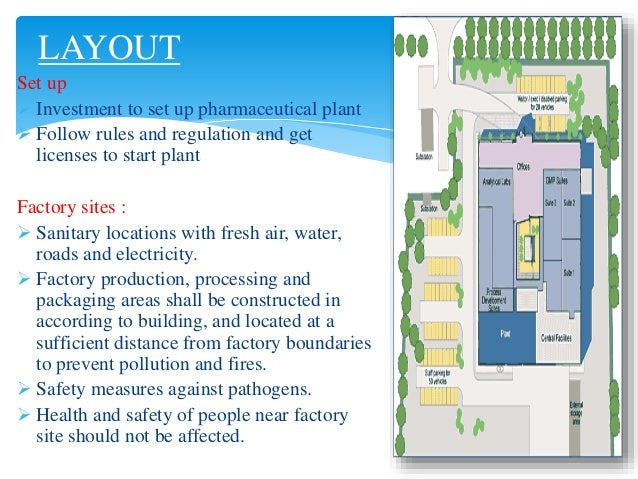 Pharmaceutical Factory Layout
