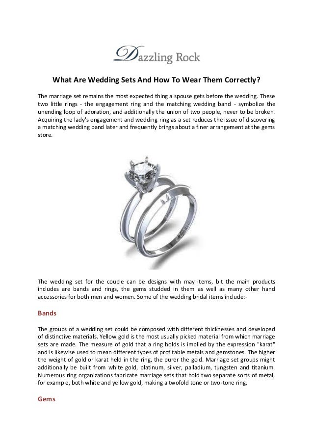What Are Wedding Sets And How To Wear Them Correctly? The Marriage Set  Remains The ...