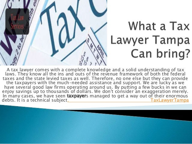 A tax lawyer comes with a complete knowledge and a solid understanding of tax laws. They know all the ins and outs of the ...