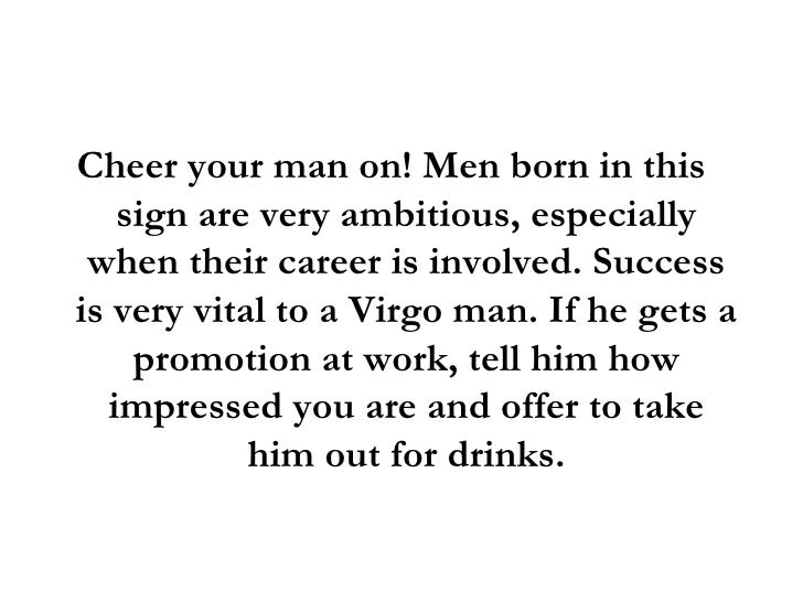 How to keep virgo man interested