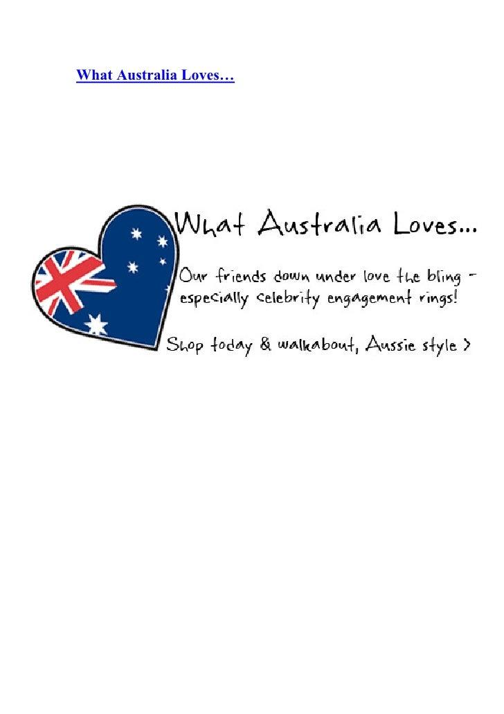What Australia Loves…