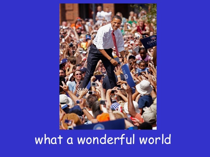 What A Wonderful World By Louis Armstrong On Obama