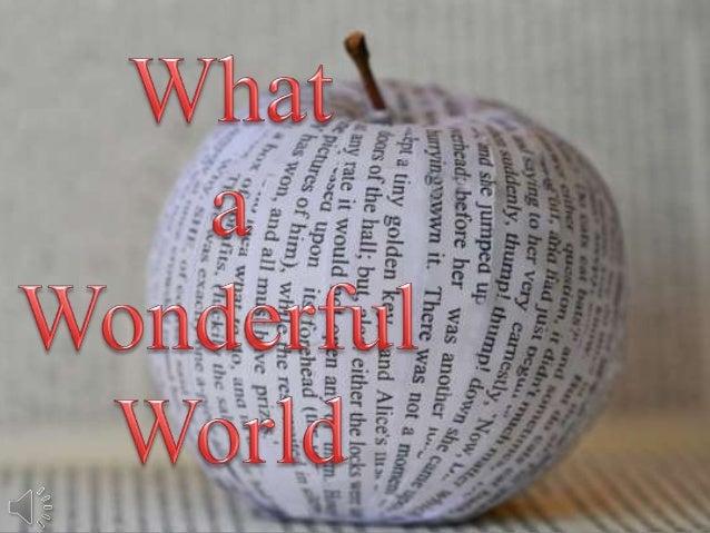 What a wonderful world (v.m.)