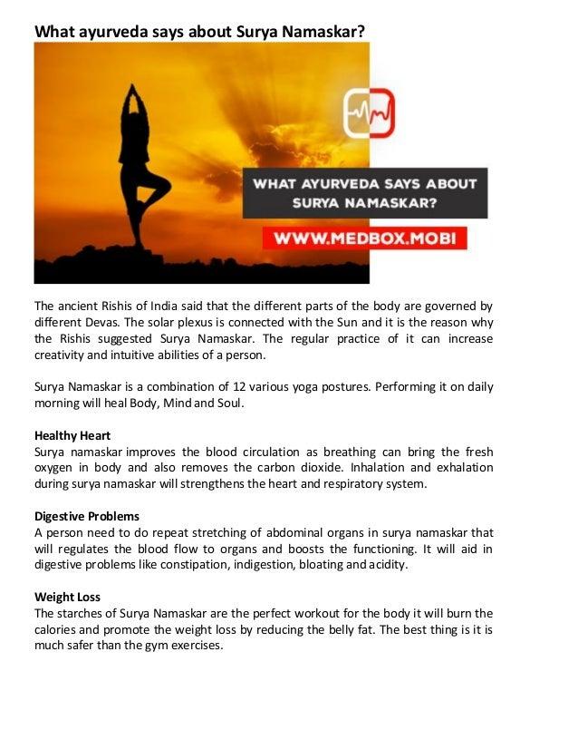 What ayurveda says about surya namaskar