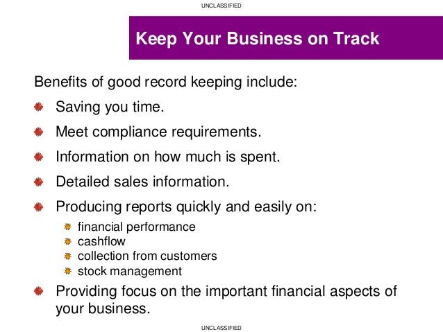 Record Keeping Requirements Compliance Statement