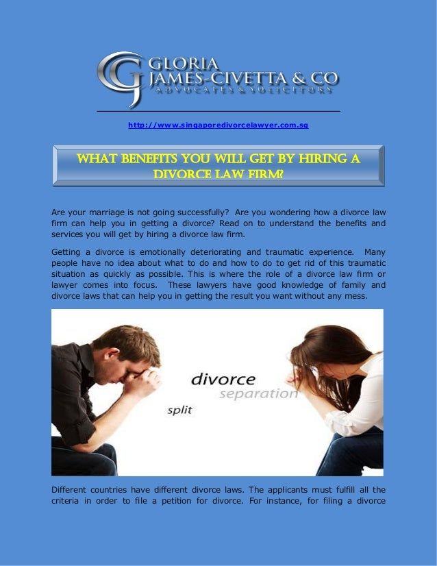 What Benefits You Will Get By Hiring A Divorce Law Firm
