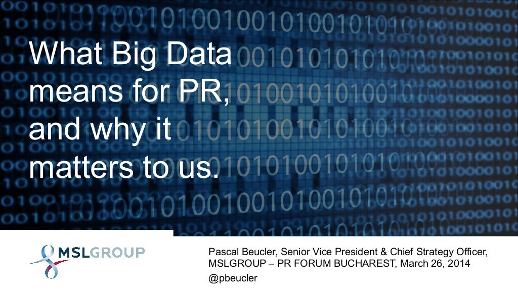 What Big Data Means for PR and Why It Matters to Us
