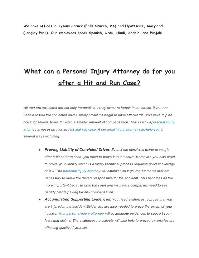 What can a Personal Injury Attorney do for you after a Hit ...