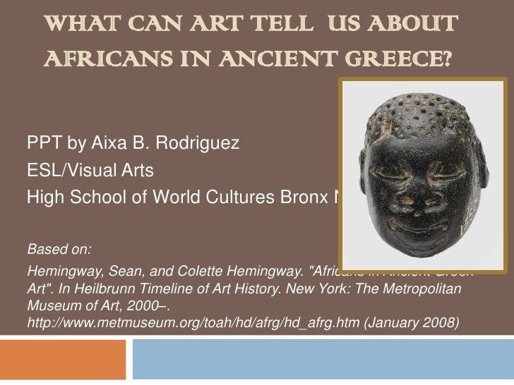What can art tell  us about africans in