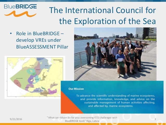 What can «blue» do for you: overcoming ICES challenges with BlueBRIDGE tools Slide 3
