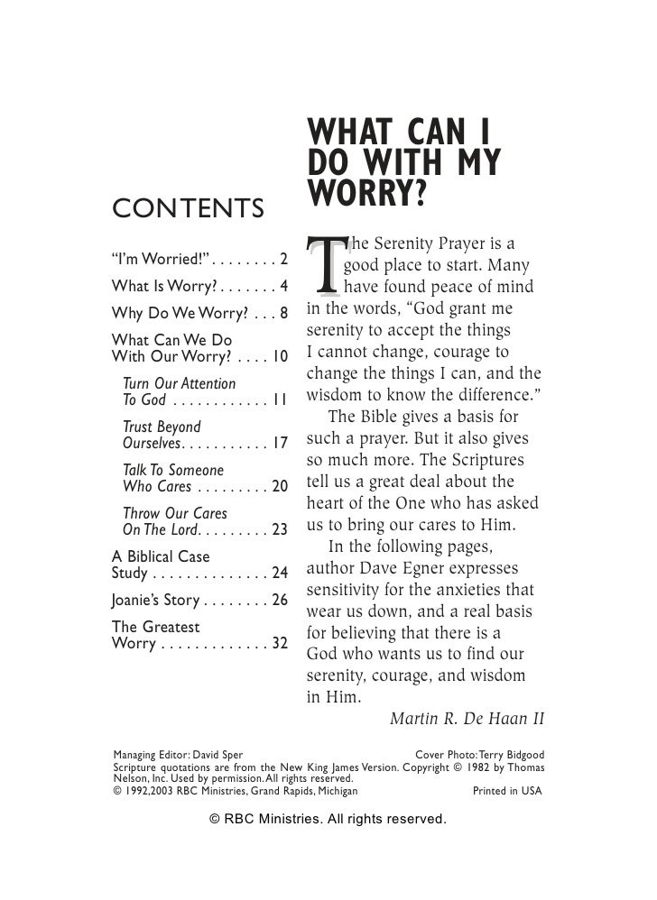 WHAT CAN I                                        DO WITH MY CONTENTS                               WORRY?                ...