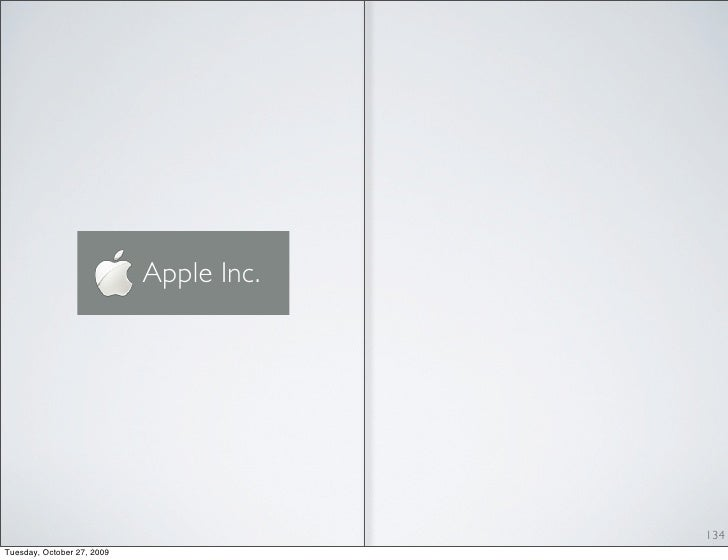 Apple Inc.                                              134 Tuesday, October 27, 2009