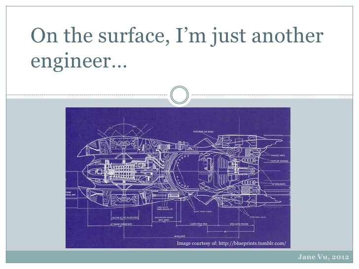 On the surface, I'm just anotherengineer…               Image courtesy of: http://blueprints.tumblr.com/                  ...
