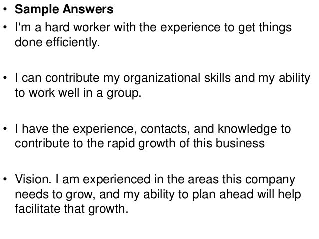 what can you contribute to this company interview answer