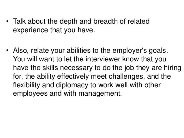 what skills and experience can you bring to this role
