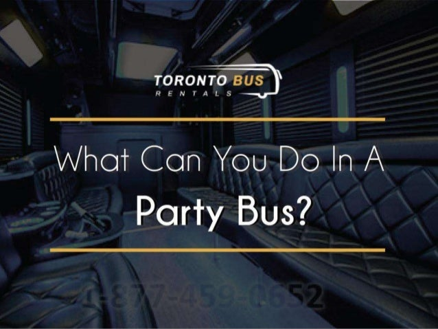 Guide for What you can do in Party Bus