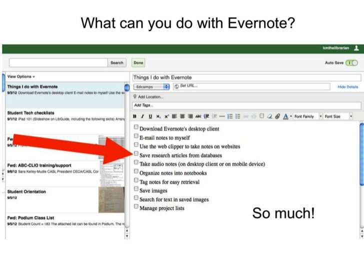 What can you do with evernote?