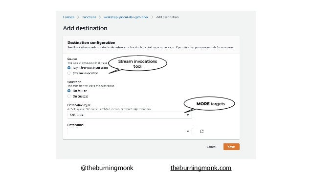 @theburningmonk theburningmonk.com prefer Lambda Destinations to DLQs (both can be used side-by-side)