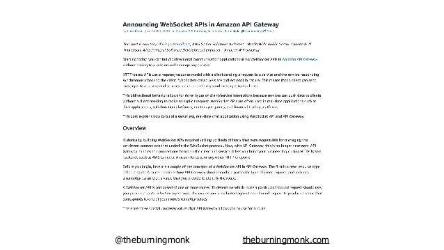 @theburningmonk theburningmonk.com API Gateway Lambda OnConnect